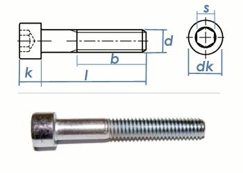 M8 x 30mm Zylinderschrauben Stahl verzinkt FKL 8.8 (10 Stk.)